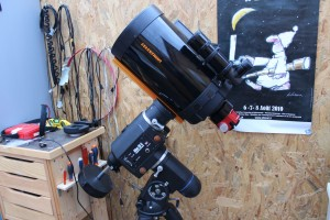 Celestron C8 - 203mm de diamètre et 2030mm de focale. Rapport F/D 10.