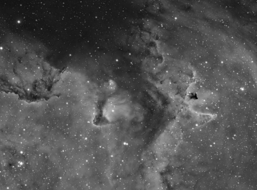 Nébuleuse IC1848 en hAlpha.