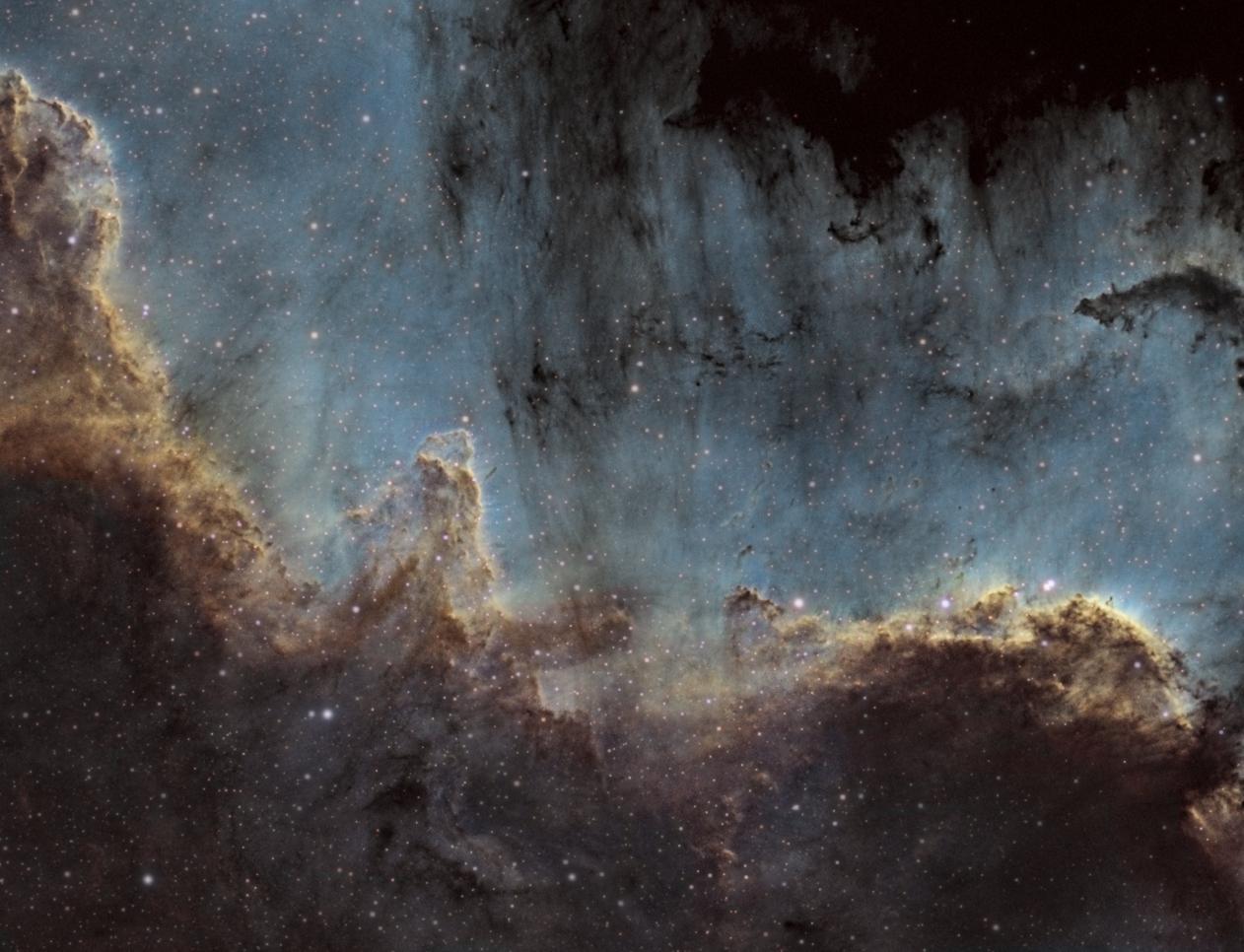Mur du Cygne - NGC7000 SHO